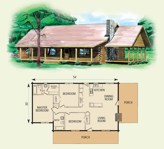 17 best images about one story ranch farmhouses with wrap for 2 story log cabin floor plans