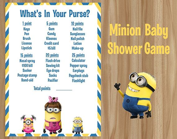 Minions What's In Your Purse Minion Baby by GraphicsByColton