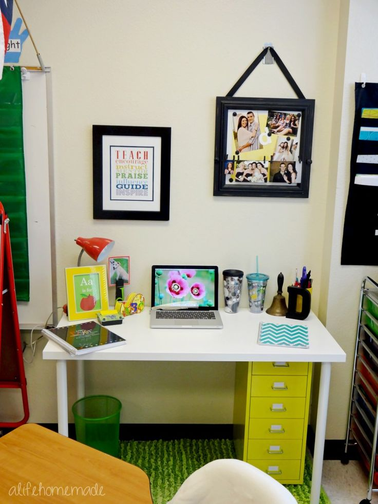 Classroom Workstation Ideas ~ Best teacher desk areas ideas on pinterest