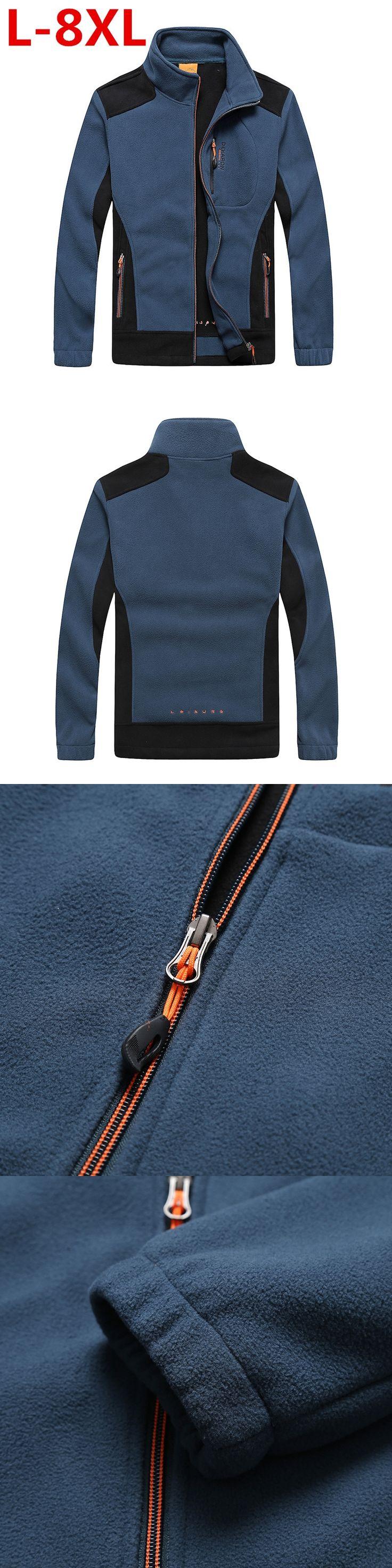 pluss size 8XL 7XL 6XLmens clothing autumn winter fleece army jacket softshell clothing for men softshell military style jackets