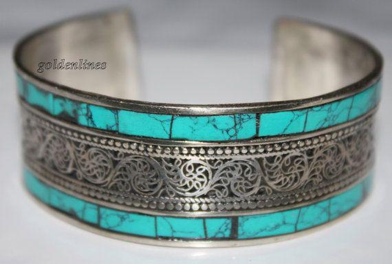 Türkis Armband böhmischen Armband Tibet Armband von goldenlines