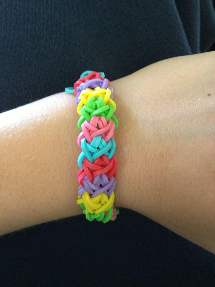 Rainbow loom bracelet I made