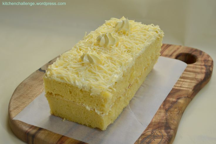 This is a classic Indonesian cake. Light sponge cake spread with butter cream and grated cheddar cheese, a combination of sweet and salty which is not commonly found in western cakes. This is a c…