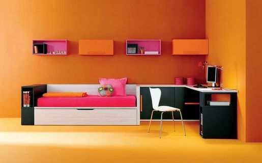 Sparkling Orange And Pink Interior Color Combinations | Tonal Plan 3.  Black, White, Lt.grey On Dk. Grey | Pinterest | Decorating Color Schemes,  Interior ...