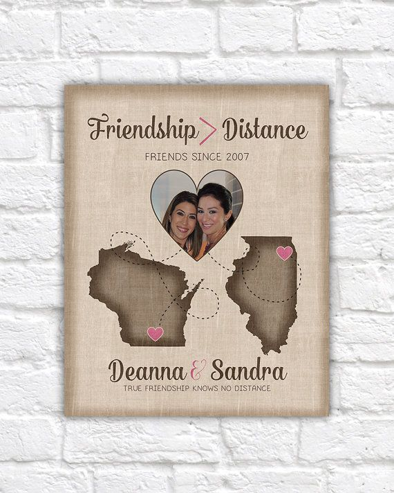 Distance Between Brother And Sister Quotes: Long Distance Best Friend Present, Going Away Gift