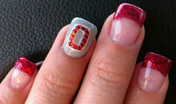 Ohio State Buckeyes Love This Sooo Doing My Nails Like Pinterest And