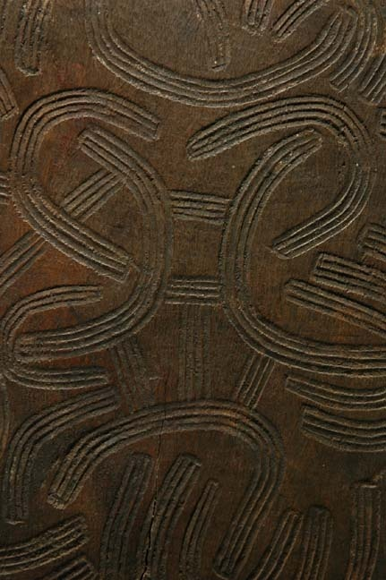 This wood churinga is from Australia's Central Desert