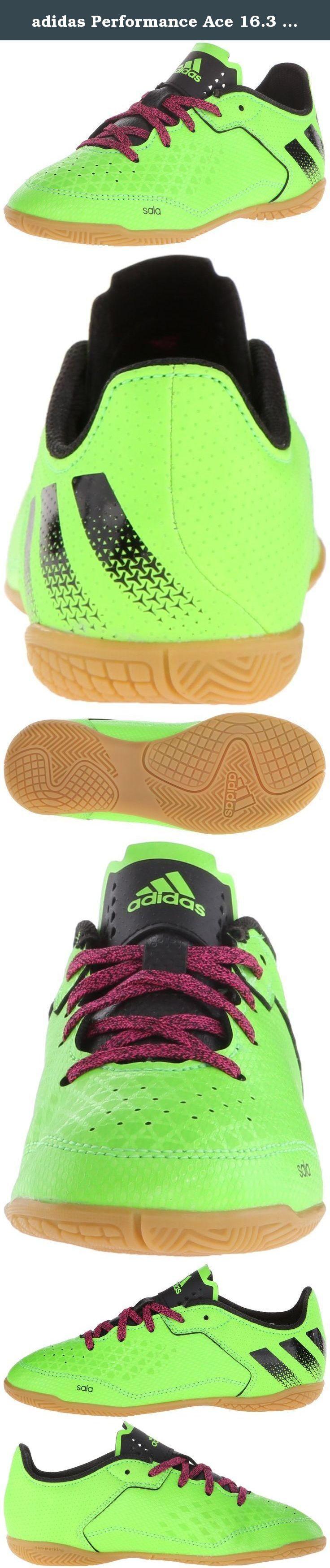 adidas Performance Ace 16.3 CT J Soccer Shoe (Toddler/Little Kid/Big Kid), Green/Black/Shock Pink, 4.5 M US Big Kid. Kids Soccer Shoe.
