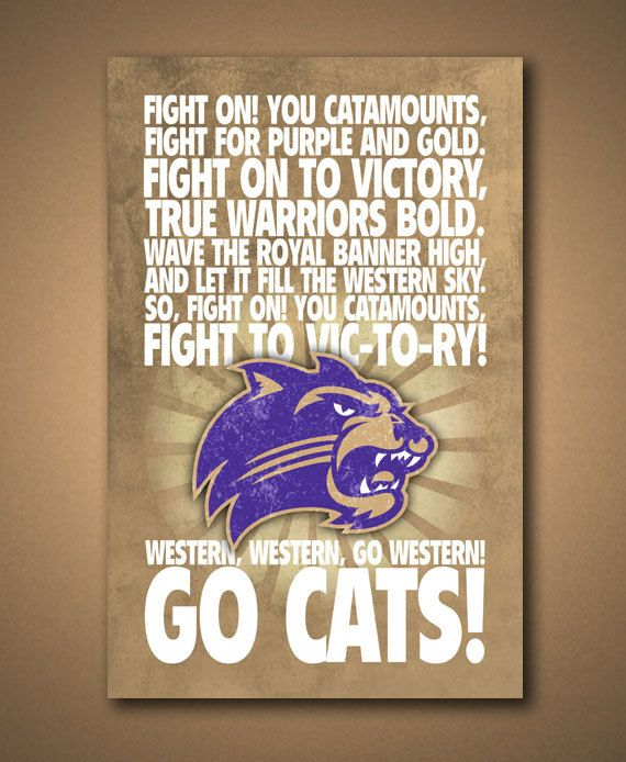 WESTERN CAROLINA UNIVERSITY Fight Song by ManCaveSportsSigns