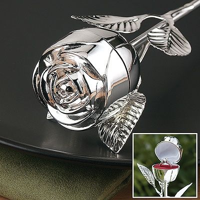 Rose Ring Box...... Way cuter than a ring pillow and safer no dropping the ring Also great for a proposal