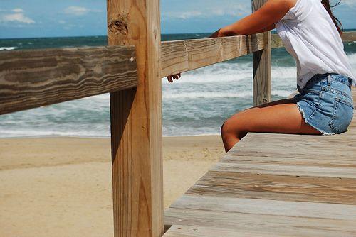 Beachtime!Pink Summer, The Bays, The Ocean, Daytona Beach, Beach Fashion, At The Beach, Summer Girls, Summertime, Jeans Shorts