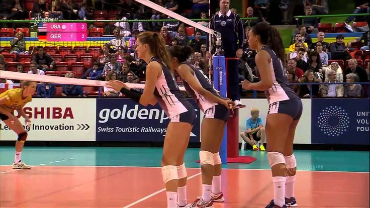 140527 Montreux Volley Masters: USA-GER