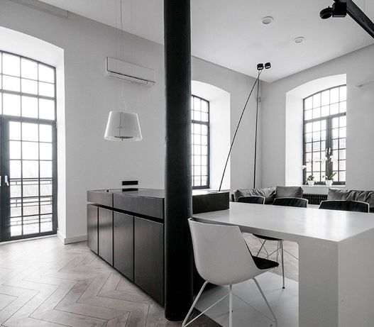 126 best images about loft apartments on pinterest for Monochrome interior design ideas