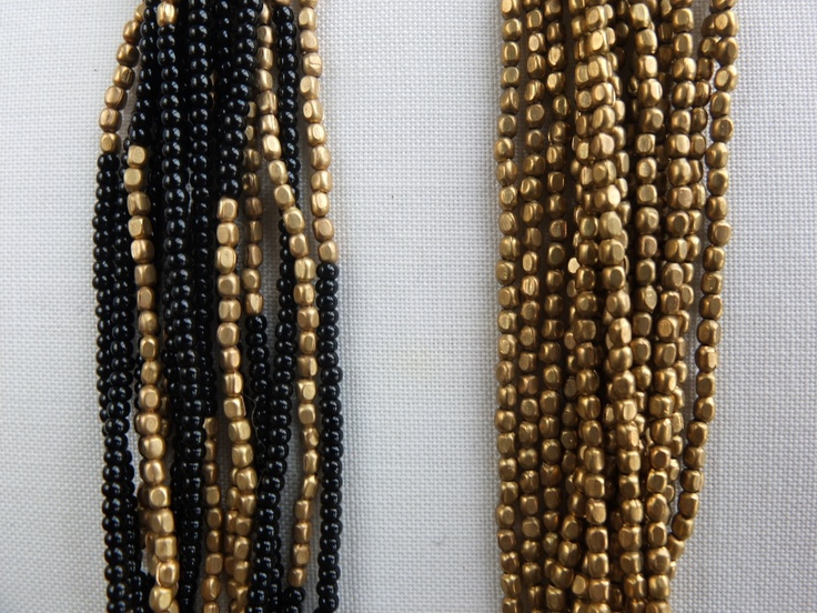 Combination: brass and brass color necklaces.