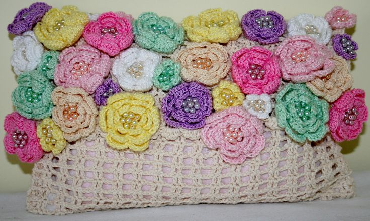Flower Clutch 100% handmade by Colour and Stitch