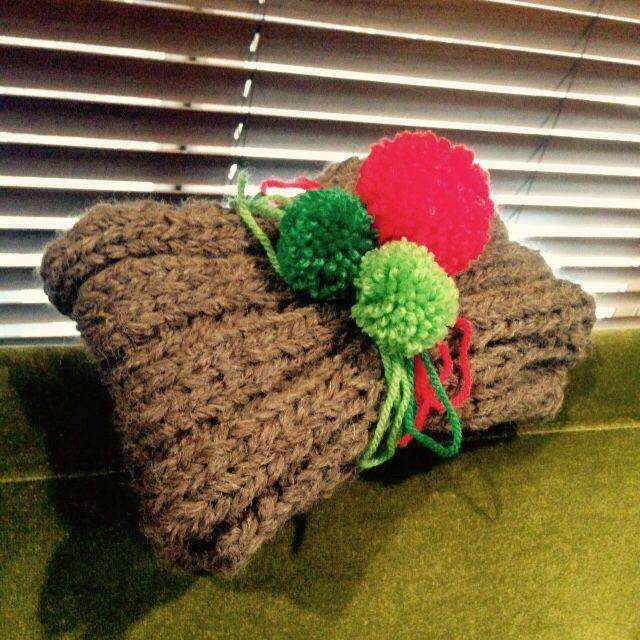 旦那さまにクリスマスプレゼント。手作り指編みマフラー♪