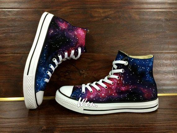 14b809810ba8 WEN Original Design Galaxy Shoes Galaxy Converse Customize Hand Painted  Shoes