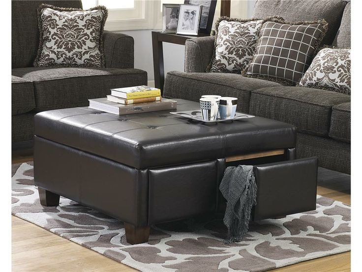 Ashley Living Room D Ottoman With Storage  Americana Furniture Tucker Ga Ashley