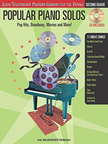 Popular Piano Solos - Grade 2 - Book/Audio: Pop Hits Broadway Movies and More! John Thompsons Modern Course for the Pi @ niftywarehouse.com #NiftyWarehouse #Geek #Gifts #Collectibles #Entertainment #Merch