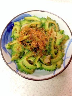 魚醤レシピ・作り方の人気順 簡単料理の楽天レシピ ゴーヤのピリ辛魚醤炒め
