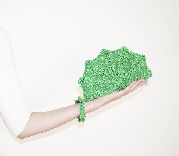 Jade Green Clutch Bag, Jade Green Designer Purse, Handmade Clutch Purse in Nephrite Green