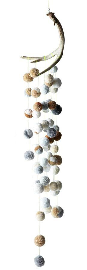 Dana Haim - One of a Kind Textiles + Art + Design--Pom Pom Antler Mobile