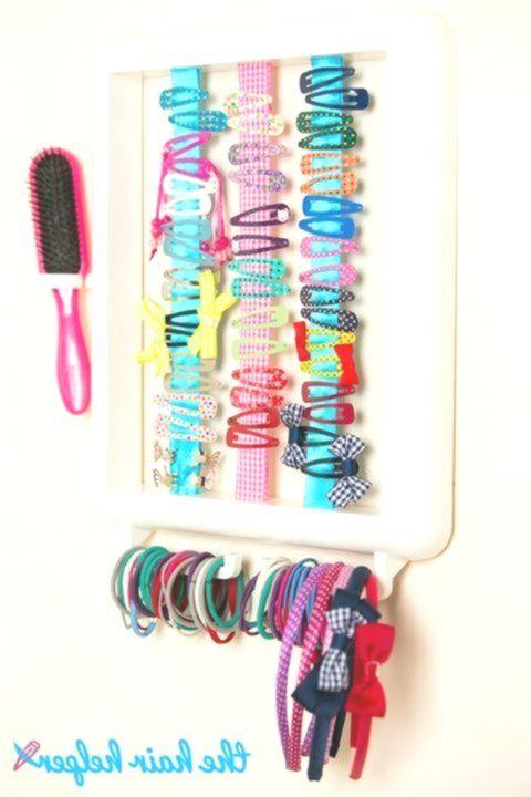 The Hair Helper Wie clever und cool ist dieser Organisationsrahmen für Haarschmuck! Kann mit …