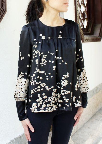 Schnittmuster für einfache Bluse MOOS von Okistyle auf DaWanda.com