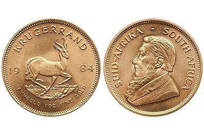 1 Unze Feingold Krügerrand 1984 916 Gold 33,93gr Echtheit garantiert Wertanlagesparen25.com , sparen25.de , sparen25.info