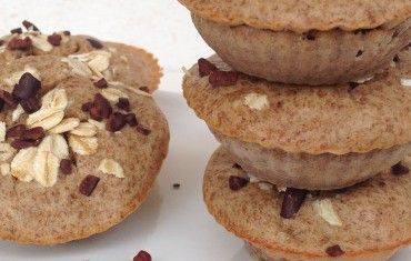 muffins integrales de banano