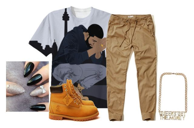 """""""tomboi C pt 2"""" by shacoraduhh ❤ liked on Polyvore featuring Hollister Co. and Timberland"""