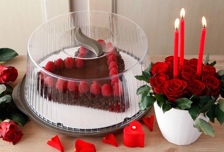 Dolcezza senza fine con un dessert servito con un Portatorta così! #sanvalentino #decorations #valentinesday