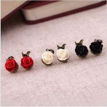 E88 mode vintage rose stud boucles d'oreilles femme livraison gratuite ( Min commander $ 10 ordre mixte )(China (Mainland))