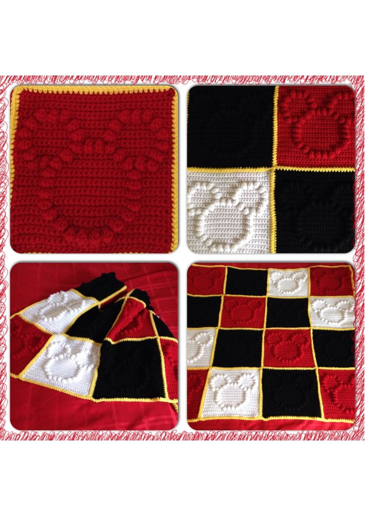 Mickey Mouse crochet blanket!
