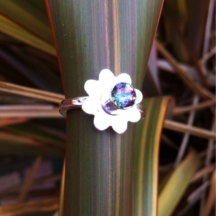 Sterling silver Mystic Topaz flower ring.   Size M £45  #ccc #supermumscraftfair #forsale #jewellery #silver #925 #ring #silverjewellery #metalsmithing #silversmithing #craft #gift http://pict.com/p/BEf