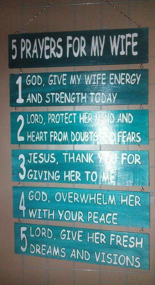 5 Prayers for my wife