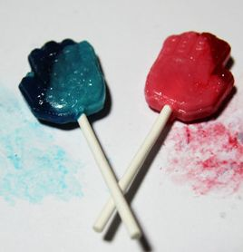 "This is my favorite candy when I was 4th grade in elementary school. The candy could have changed my tongue to color of candy. It is called the ""Paint."""