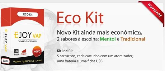 Novo Kit ainda mais econômico -  Com 2 sabores a sua escolha. Mentol e Tradicional  A melhor maneira para estar conhecendo os cigarros eletrônicos.  O Luxo da Qismoke.    http://qismoke.com