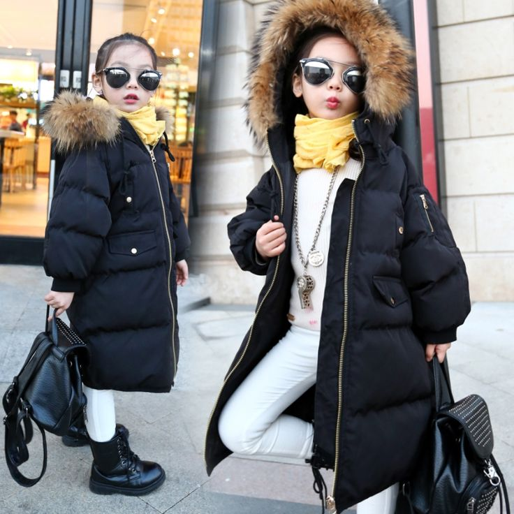 46.99$  Buy now - http://alilst.worldwells.pw/go.php?t=32761426259 - 3-14 Years 2016 Girl Parkas Winter Coat Teenagers Warm Fur Hooded Jackets For Girls Kids Teens Meisjes Winterjas Doudoune Fille