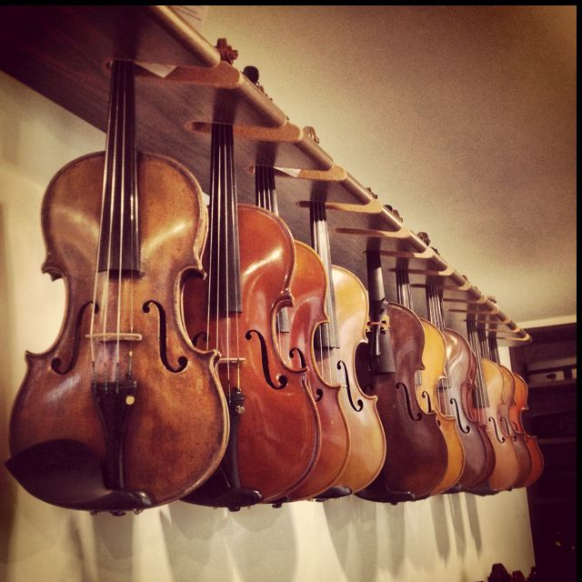 Antique violins, oh I'd love a chance to play them all, to hear their different…