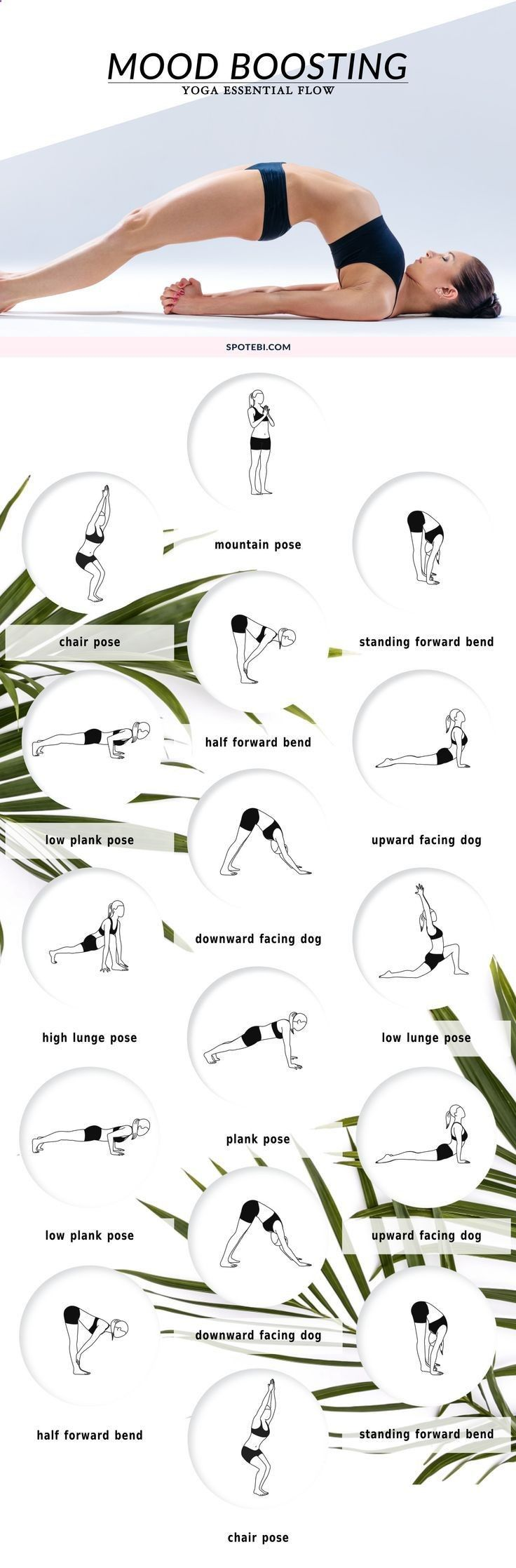 Beat stress and get happy with these mood-boosting yoga poses. A 16 minute essential flow to help you shake off any anxiety or frustration, and create a more stable sense of calm.