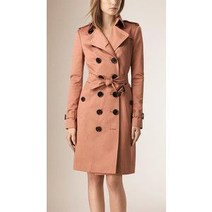 Burberry Cotton Sateen Trench Coat