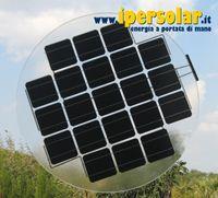 pannello fotovoltaico con vetro rotondo