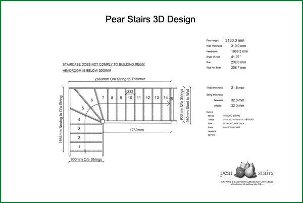 Rosebank Oak and Redwood Stairs - Design