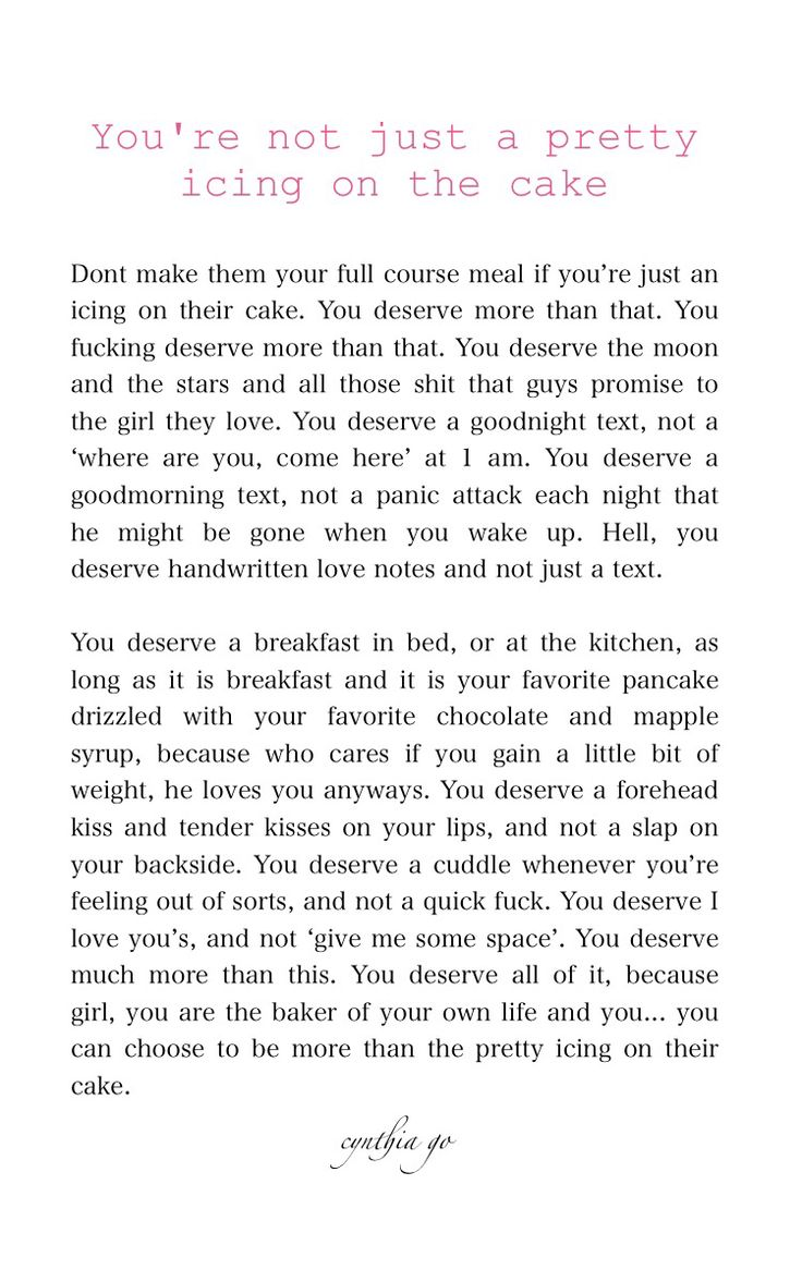 Open letter to all the girls: You're not just a pretty icing on the cake | [3/365] 365 Writing Project - prose, love, letter
