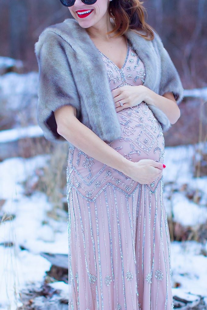 New Year's Eve Glam + A Giveaway | Hello Fashion - Maternity style