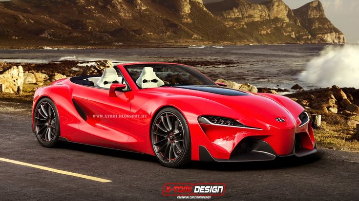 Render: Toyota FT-1 Convertible