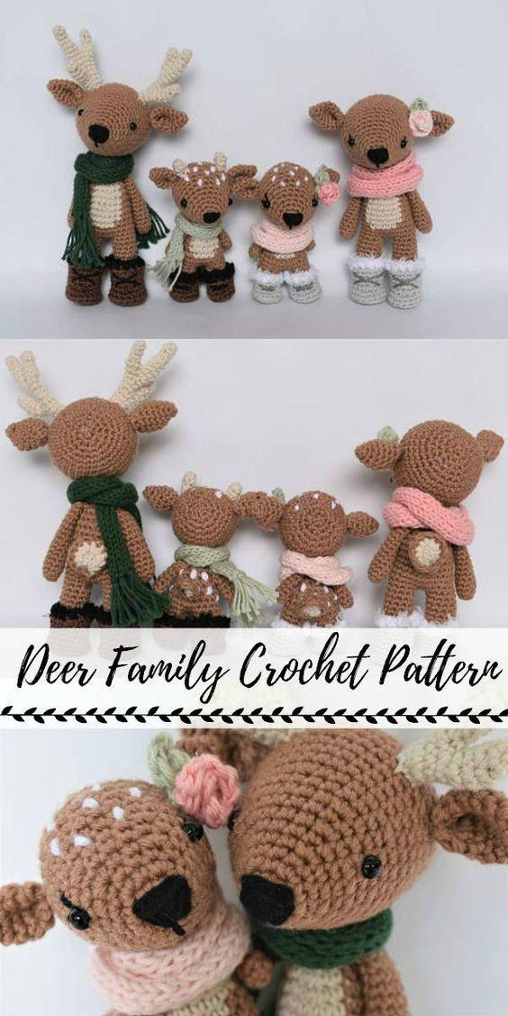 Sweet Handmade Holiday Stuffies #crochet