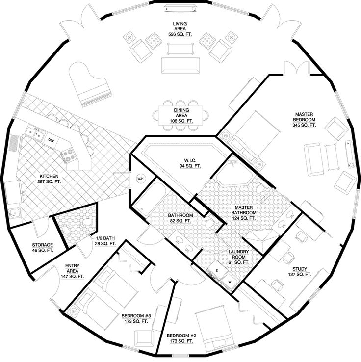 17 best ideas about round house plans on pinterest round for Round home floor plans
