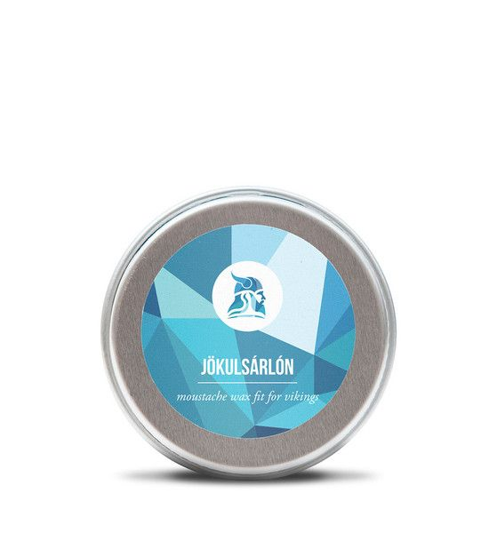 "This moustache wax gets its name from one of the coolest places in Iceland, Jökulsárlón which literally means ""glacial river lagoon""."